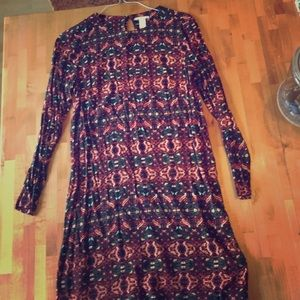 H&M batik print long tunic dress